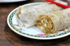 Rodillo vegetariano del estilo asiático Fotografía de archivo libre de regalías