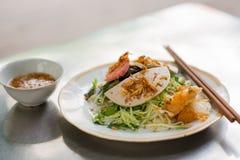 Rodillo vietnamita de los tallarines de arroz Imagen de archivo libre de regalías