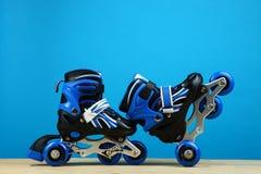 Rodillos azules del ` s de los niños Fotografía de archivo libre de regalías