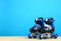 Rodillos azules del ` s de los niños Imágenes de archivo libres de regalías