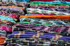 Rodillos coloridos de la tela Fotografía de archivo
