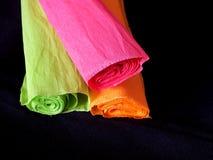 Rodillos coloridos del papel fotografía de archivo libre de regalías