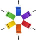 Rodillos con colores primarios y secundarios Imagen de archivo