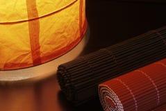 Rodillos de bambú Foto de archivo libre de regalías