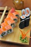 Rodillos de California, sushi del maki Fotografía de archivo libre de regalías
