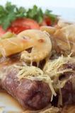 Rodillos de carne asados a la parilla Fotografía de archivo