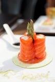 Rodillos de color salmón Imagenes de archivo