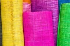 Rodillos de la materia textil Foto de archivo libre de regalías
