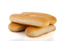 Rodillos de pan para los perritos calientes Imagen de archivo libre de regalías
