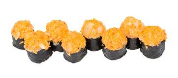 Rodillos de sushi calientes Fotos de archivo libres de regalías