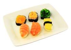 Rodillos de sushi deliciosos Imagen de archivo