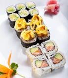 Rodillos de sushi japoneses Imagen de archivo