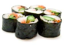 Rodillos de sushi japoneses Fotografía de archivo libre de regalías
