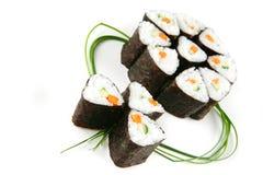 Rodillos de sushi servidos Fotografía de archivo libre de regalías