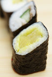 Rodillos de sushi vegetales Fotos de archivo libres de regalías