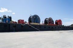 Rodillos del cable eléctrico Foto de archivo