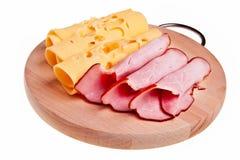 Rodillos del jamón y del queso. Fotos de archivo libres de regalías