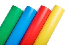 Rodillos del papel coloreado fotografía de archivo libre de regalías
