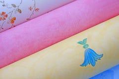 Rodillos del papel pintado. Imagen de archivo libre de regalías