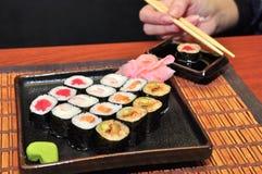 Rodillos japoneses del alimento Foto de archivo