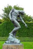 Rodin, тень, музей Rodin, Париж стоковые фотографии rf