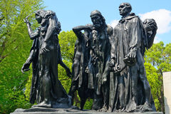 Rodin: The Burghers of Calais, Tokyo, Japan Stock Images