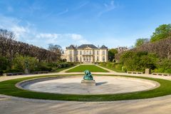 Rodin is a French sculptor. Rodin Museum in Paris,France. It displays works by the French sculptor Auguste Rodin Royalty Free Stock Images