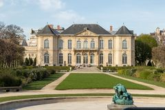 Rodin is a French sculptor. Rodin Museum in Paris,France. It displays works by the French sculptor Auguste Rodin Stock Images