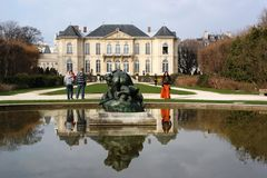 Rodin Museum in Paris France stock image