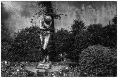 Rodin Museum, Paris. France - The bronze sculpture of a girl Stock Photo