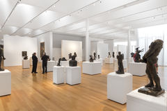 Rodin Sculptures av kantor Art Collection i North Carolina Arkivfoton