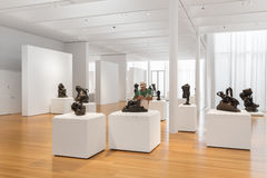 Rodin Sculptures av kantor Art Collection i North Carolina Arkivbild