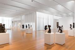 Rodin Sculptures in Carolina Museum del nord di arte Fotografia Stock Libera da Diritti