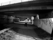 Roding 12. This is part of a motorway bridge underpass Royalty Free Stock Images