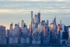 Środków miasta drapacze chmur Fotografia Stock