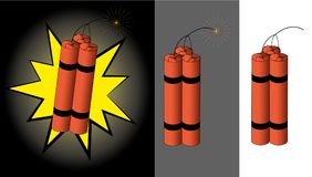 Środków wybuchowych kije z topikowym sznurem Zdjęcie Royalty Free