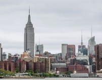Środka miasta Manhattan linii horyzontu panorama Obraz Stock