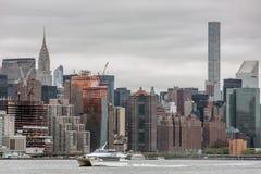 Środka miasta Manhattan linii horyzontu panorama Zdjęcie Stock