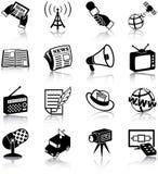 Środki masowego przekazu ikony Fotografia Stock
