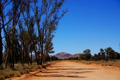 Środkowa Australia pustyni scena Zdjęcie Stock