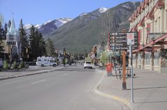 Środkowa ulica Banff Zdjęcie Royalty Free