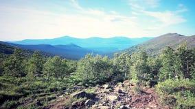 Środkowa Urals Rosja droga Konzhak góra Zdjęcie Stock