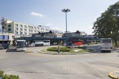 Środkowy przystanek autobusowy w Zagreb, Chorwacja Obraz Royalty Free