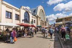 środkowy rynek Riga Zdjęcia Royalty Free