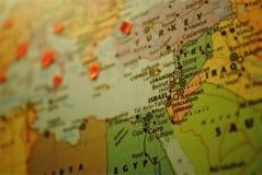 Środkowy Wschód mapa: Izrael Obraz Stock