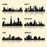 Środkowy Wschód miast wektoru set Obrazy Royalty Free