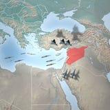 Środkowy Wschód jak widzieć od przestrzeni, Syria Zdjęcie Royalty Free