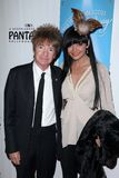 Rodney Bingenheimer. Christa Collins  at the Come Fly Away Premiere, Pantages, Hollywood, CA 10-25-11 Stock Photos