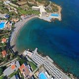Rodos. Aerial view Rodos (Greece). Beach Hotel Stock Image