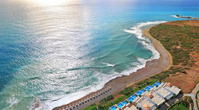Rodos. Aerial view Rodos (Greece). Beach Hotel Royalty Free Stock Images